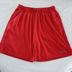 Men's Nike dri fit red basketball shorts